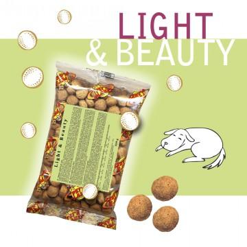 Light & Beauty - Croquettes pour chiens - Single Pack - En voyage, dans le sac, toujours avec soi!