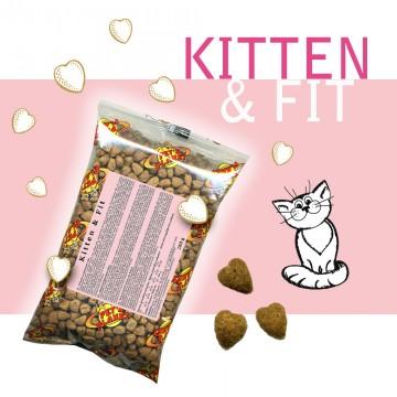 Kitten & Fit - Croquettes pour chats - Single Pack - En voyage, dans le sac, toujours avec soi!