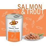 Bouchées avec Saumon et Truite (Chunks with Salmon & Trout) - pour chats gourmands et sophistiqués