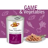 Bouchées avec Gibier et Légumes (Chunks with Game & Vegetables) - pour Chats exigeants qui aiment les goûts prononcés