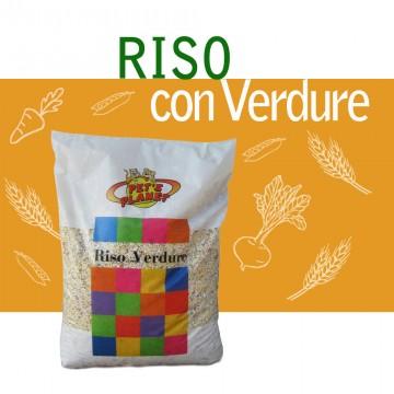 Riso Soffiato con Verdure 5kg per tutti gli animali da compagnia. Con aggiunta di erbe officinali.