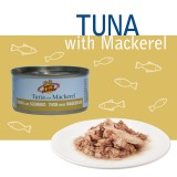 NATURAL TUNA with MACKEREL Tonno Naturale con sgombro pescato in mare aperto – per Cani e Gatti - Linea Elements
