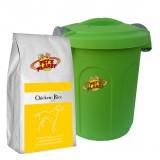 Chicken & Rice Croquettes pour Chiens - Aliment 4kg pour Chiens de petite et moyenne taille, avec Container protège-fraîcheur