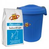 INDOOR & LIGHT Croquettes 2 kg pour Chats d'intérieur et qui font peu d'activité, avec Container protège-fraîcheur mini