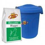 HAPPY Croquettes 2 kg pour tous les Chats, surtout indiquées aux chats stérilisés, avec container protège-fraîcheur mini