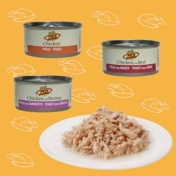 Chat gourmant? 7 jours de tendres filets de poulet frais - aliment naturel