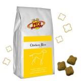 CHICKEN & RICE Crocchette per Cani - Alimento 12 kg scorta per Cani di taglia media - con pollo fresco - prodotto in Itali
