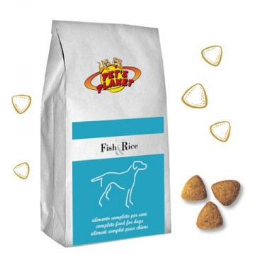 Fish & Rice Crocchette - Alimento ipoallergenico per Cani - prodotto in Italia - confez. 12kg