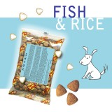 FISH & RICE Crocchette per Cani - Single Pack. In viaggio, in borsa, sempre con te!