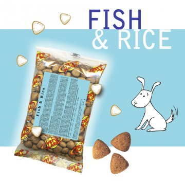 Fish @ Rice - Croquettes pour chiens - Single Pack. En voyage, dans le sac, toujours avec soi!