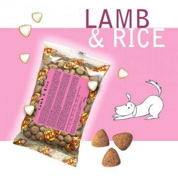 Lamb @ Rice - Croquettes pour chiens - Single Pack. En voyage, dans le sac, toujours avec soi!