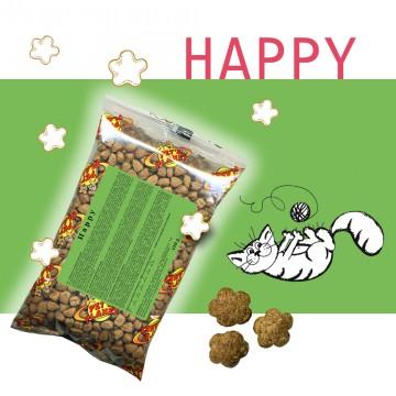Happy - Croquettes pour chats - Single Pack - En voyage, dans le sac, toujours avec soi!