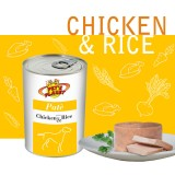 Chicken & Rice Pâté pour Chiens - Avec ingrédients à faible teneur en cholestérol et riches en vitamine B