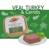 PATE' VEAL, TURKEY & CARROTS Paté Gourmet con Vitello, Tacchino, Carote per Cani per cani esigenti