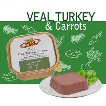Paté Veal, Turkey & Carrots - Paté Gourmet con Vitello, Tacchino, Carote per Cani esigenti