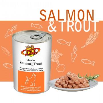 Bocconcini cotti al vapore con Salmone e Trota (Chunks with Salmon & Trout)