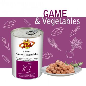 Bocconcini cotti al vapore con Selvaggina e Verdure (Chunks with Game & Vegetables)