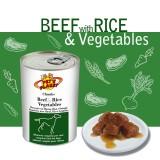 Bouchées avec Bœuf, Riz et Légumes (Chunks with Beef, Rice & Vegetables) - pour Chiens de moyenne et petite taille