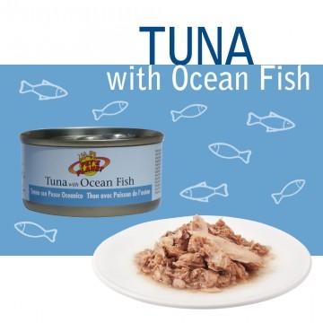 Natural Tuna with Ocean Fish Tonno Naturale con pesce oceanico pescato in mare aperto