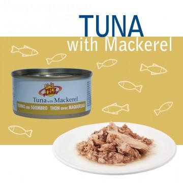 Natural Tuna with Mackerel Tonno Naturale con sgombro pescato in mare aperto