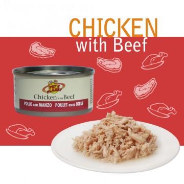 Natural Chicken with Beef Filetti di pollo con manzo allevato all'aperto