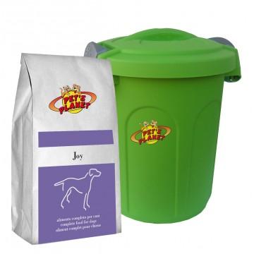 Joy Crocchette per cani - Alimento per cuccioli e cani adulti di taglia picola con Contenitore salvafreschezza medio - 4kg