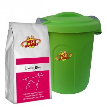 Lamb & Rice Crocchette - Alimento per Cani con Contenitore salvafreschezza medio - confez. 4kg