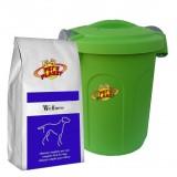 WELLNESS Crocchette per Cani - Alimento 4 kg sempre fresco per Cani di piccola taglia, con Contenitore salvafreschezza medio