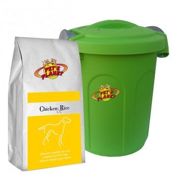 Chicken & Rice Crocchette - Alimento per cani con Contenitore salvafreschezza medio - confez. 4kg