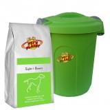 LIGHT & BEAUTY Crocchette per Cani - Alimento 4 kg per Cani di piccola e media taglia, con Contenitore salvafreschezza medio