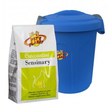 Sensinary® Croccantini per Gatti con sensibilità digestiva ed urinaria, con Contenitore salvafreschezza mini - confez. 2 kg