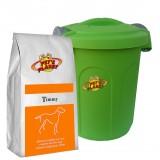 TIMMY Crocchette per Cani - Alimento 4 kg sempre fresco per Cani di piccola taglia, con Contenitore salvafreschezza medio