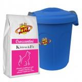 KITTEN & FIT Croquettes 2 kg pour Chats d'extérieur qui font d'activité, avec Container protège-fraîcheur mini