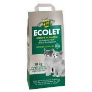 ECOLET Lettiera Ecologica per Gatti in Argilla Naturale - 10 kg