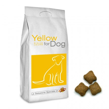 YELLOW for DOG Croquettes pour tous les chiens, 4 Kg