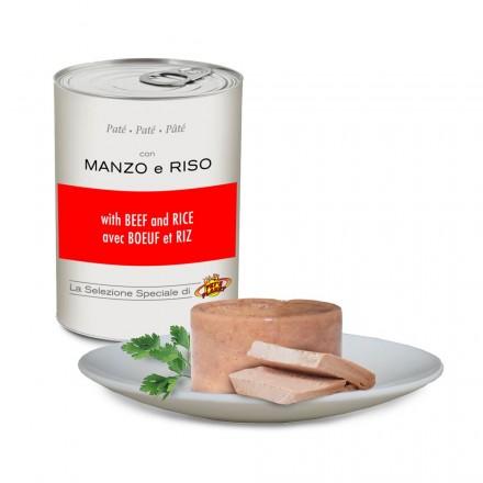 Paté con MANZO e RISO per cani, 400 g