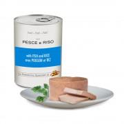Pâté avec POISSONS et RIZ pour chiens, 400 g