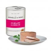 Paté con AGNELLO e RISO per cani, 400 g
