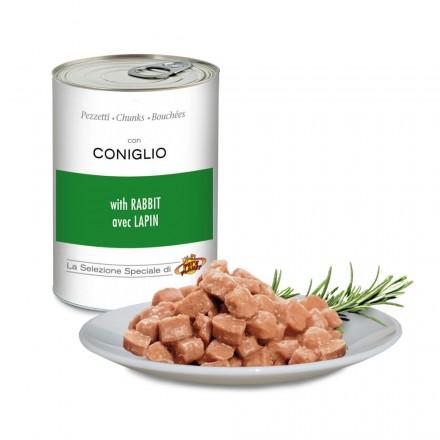 Pezzetti con CONIGLIO per cani, 405 g