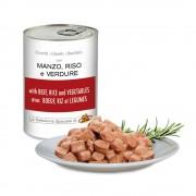 Pezzetti con MANZO, RISO e VERDURE per cani, 405 g
