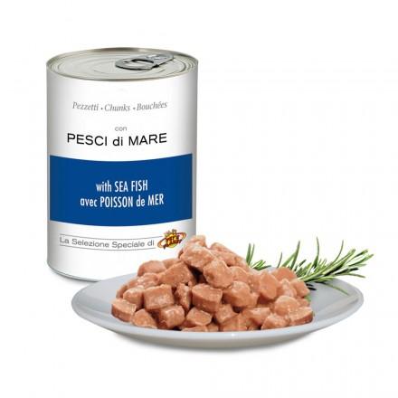 Pezzetti con PESCI di MARE per cani, 405 g