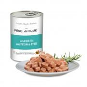 Pezzetti con PESCI di FIUME per cani, 405 g