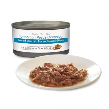 Filets de THON au naturel avec POISSON DE L'OCEAN pour chats, 85 g