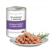 Pezzetti con SELVAGGINA e VERDURE per cani, 405 g